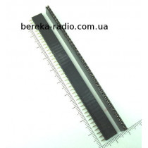 PBS-40=ZL262-40SG гніздо однорядне 40 pin, крок 2.54mm (FD1x40)