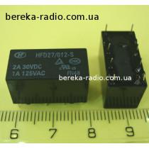HFD27-012-S(555) 2A 30VDC 1A 125VAC