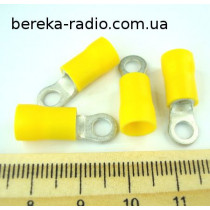 ST-081/Y (клема очкова ізольована М4,  4.0-6.0mm2, жовта)