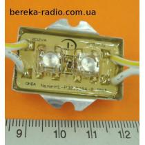 Світлодіодний модуль 112*2 зелений вологозахисний самокл. модуль 1.9х3.67х0.65мм