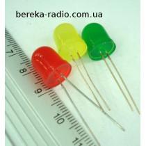 Св. d=10mm зелений, дифузний, HL-1003S10GD