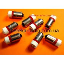 Контролька LED B9/12/R 12V AC/DC червона 1000mcd