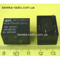 HLS-T72-DC12V-1C (10A/120VAC, 10A/28VDC, 5A/240VAC)