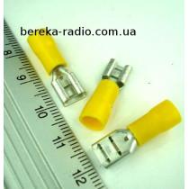 ST-005/Y (клема гніздо 6.3 x 0.8mm, 4.0-6.0mm2, жовта)