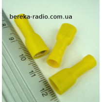 ST-010/Y (клема гніздо 6.3 x 0.8mm, 4.0-6.0mm2, жовта)
