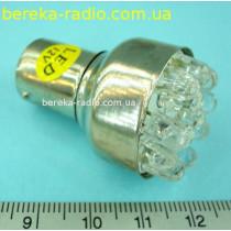 Автолампа LED жовта 12V S25-12LED/1156  (ZAR0068)