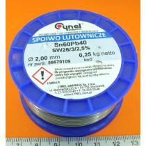Припій 2.0mm 250g Cynel (бухта) (00101-250)