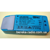 Драйвер LED 17W, Uвх=100-240V, Uвих=2-25V 700mA, AcTec (в корпусі, 113х44х28mm)