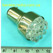 Автолампа LED жовта 12V S25-12LED/1157 (ZAR0087)