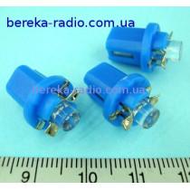 Автолампа LED синя 12V B8 5d-1LED (ZAR0081)