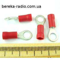 ST-082/R (клема очкова ізольована M5, 0.5-1.0mm2, червона)