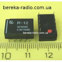 R-12-2C 12VDC (0,5A/125VAC, 1A/24VDC)