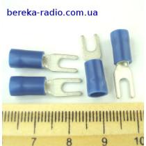 ST-090/B (клема вилка M3, 3.2mm, 1.5-2.5mm2, синя)