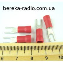 ST-090/R (клема вилка M3, 0.5-1.0mm2, червона)