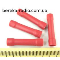 ST-065/R (клема з`єднувальна циліндрична, 0.5-1.5mm2, червона)