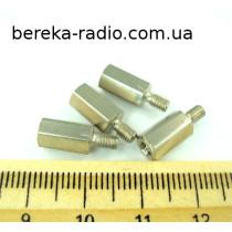 Стійка металева шестигранна TFM-M3x10 (гвинт-гайка)