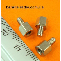 Стійка металева шестигранна TFM-M3x5 (гвинт-гайка)