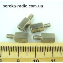 Стійка металева шестигранна TFM-M3x8 (гвинт-гайка)