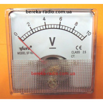 Головка вольтметра 0-10V SF-60