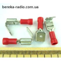 ST-020/R (клема гніздо/штекер 6.3x0.8mm, 0.5-1.5mm2)