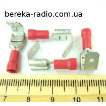 ST-021/R (клема гніздо/штекер 6.3x0.8mm, 0.5-1.5mm2)