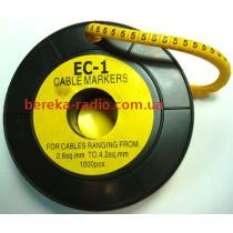 Маркер кабельний ЕС-1 №5 (2,5 мм.кв)