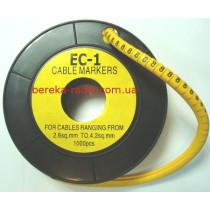 Маркер кабельний ЕС-1 №8 (2,5 мм.кв)