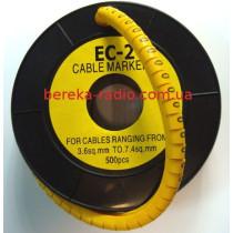 Маркер кабельний ЕС-2 №0 (4,0 мм.кв)