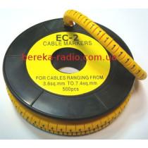 Маркер кабельний ЕС-2 №1 (4,0 мм.кв)
