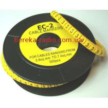 Маркер кабельний ЕС-2 №3 (4,0 мм.кв)