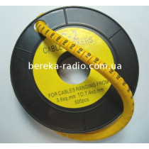 Маркер кабельний ЕС-2 №9 (4,0 мм.кв)