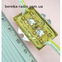 Світлодіодний модуль 112*2 жовтий самокл вологозахищ. 1.9х3.67х0.65мм