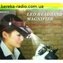 Окуляр на голову MG81007A + підсвітка 1.5X, 3X, 6.5X, 8X