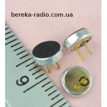 Мікрофон електретний KPCM-6018P (2.2 kOm, 2V, -40dB, 6x1.8mm, з виводами)