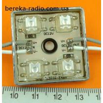 Світлодіодний модуль 112*4 червоий вологозахисний самоклеючий, 12V, 40 mA 38х36.7х6.5mm