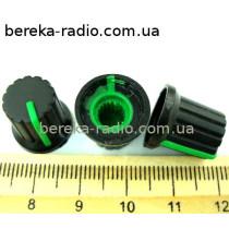 AG9 ручка чорна з зеленою вставкою