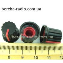 AG9 ручка чорна з червоною вставкою
