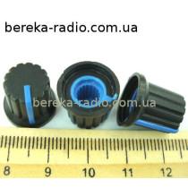 AG9 ручка чорна з синьою вставкою