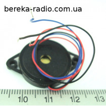 Бузер KPR-2310-3 п`зо, без генератора (12V, 90dB, 5mA, 3700Hz, 32x14mm)