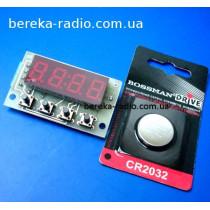 Ч2Т-0.4 годинник електронний з двома термометрами (датчики в комплект не входять)