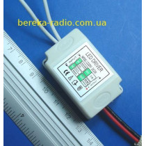 Драйвер LED 3-2x1W, Uвх=220V, Uвих=6-13VDC 450mA, CLA02 (в корпусі)