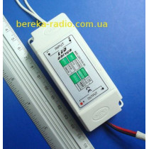 Драйвер LED 18-25x1W, Uвх=220V, Uвих=54-86VDC 300mA, CLA09 (в корпусі)