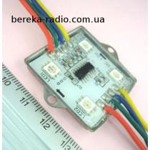 Світлодіодний модуль RGB з цифровим управл. LPD6803, (4шт. 5050), 3.8*3.8*0.65см, 5В 1.2Вт,